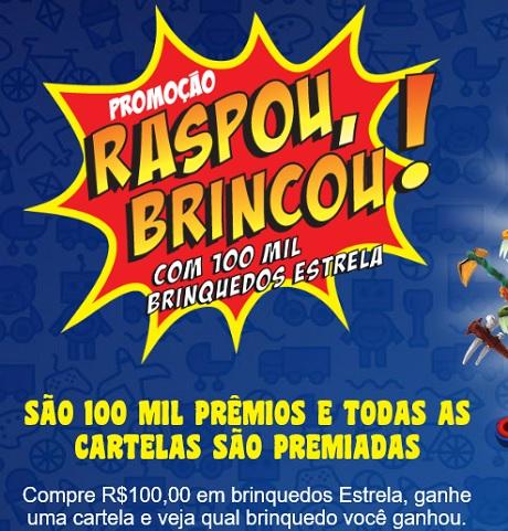 Promoção Estrela Raspou Brincou