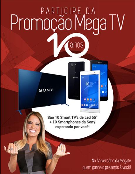 Promoção Aniversário De 10 Anos Da Mega Tv