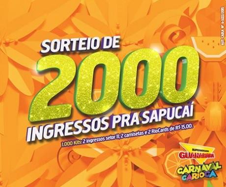 Promoção Sorteio De 2000 Ingressos Pra Sapucaí