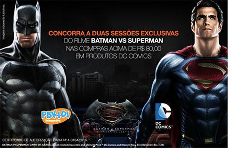 Promoção Pbkids Batman Vs Superman