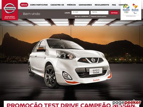 Promoção Nissan Test Drive Campeão