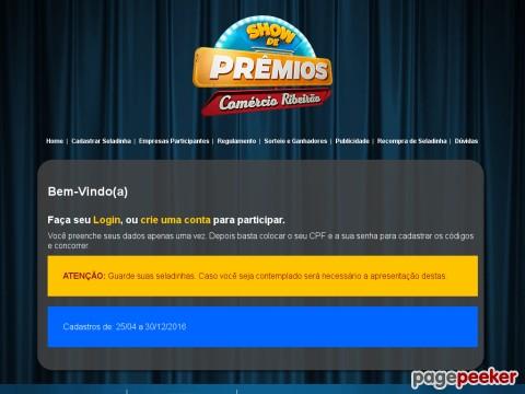 Promoção Show De Prêmios Comércio Riberão