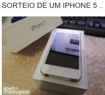 Promoção Sorteio De Um Iphone 5