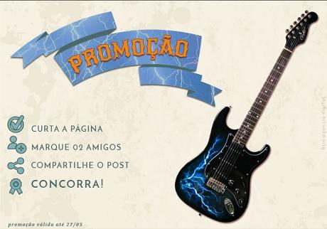 Promoção Concorra A Uma Guitarra Condor Strato Rx-20 Estilizada Trovão