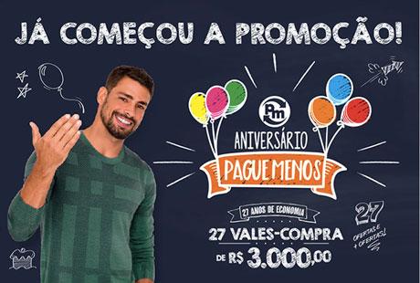 Promoção Aniversário Pague Menos 27 Anos De Economia