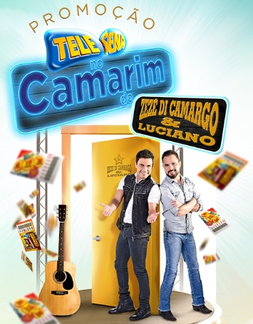 Promoção Tele Sena No Camarim Do Zezé Di Camargo E Luciano