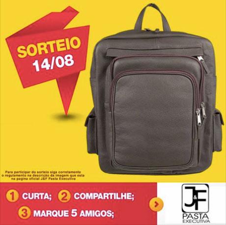Promoção Mochila De Couro Legítimo Da J&f Pasta Executiva