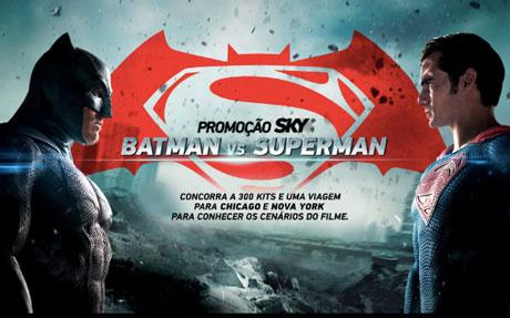 Promoção Sky Batman Vs Superman