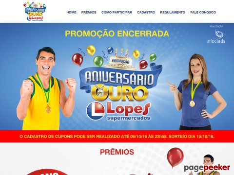 Promoção Aniversário De Ouro Lopes Supermercados