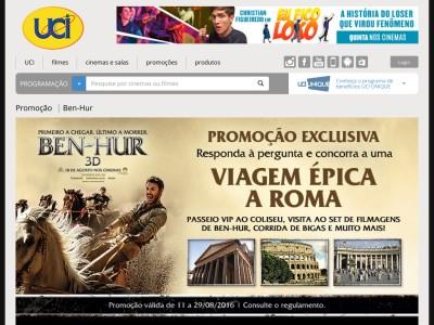 Promoção Ben-hur Paramount E Uci Cinemas