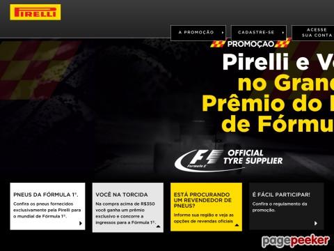 Promoção Pirelli E Você No Grande Prêmio Brasil De Fórmula 1