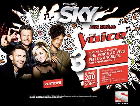 Promoção Sky Você No The Voice Em Los Angeles