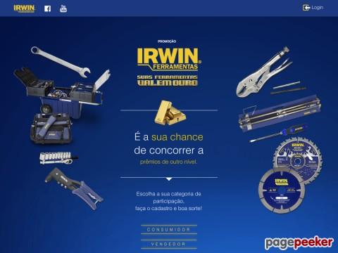 Promoção Irwin Suas Ferramentas Valem Ouro