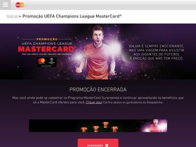 Promoção Uefa Champions League Mastercard