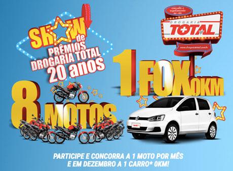Promoção Show De Prêmios Drogaria Total 20 Anos