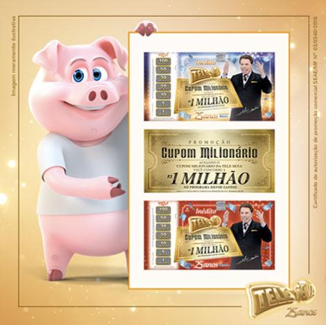Promoção Cupom Milionário Da Tele Sena