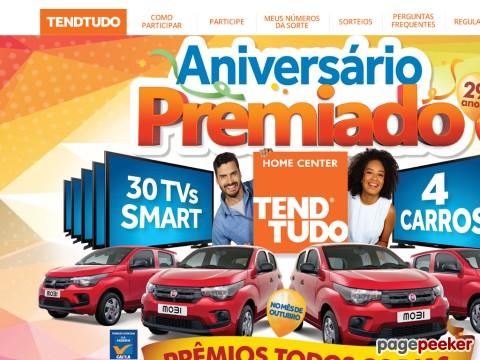 Promoção Aniversário Premiado Tendtudo Casa Show