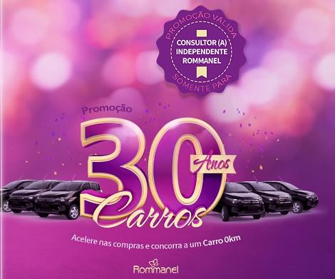 Promoção Rommanel 30 Anos 30 Carros