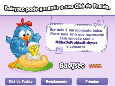 Promoção Chá De Fraldas Babysec