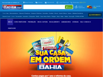 Promoção Casas Bahia Sua Casa Em Ordem