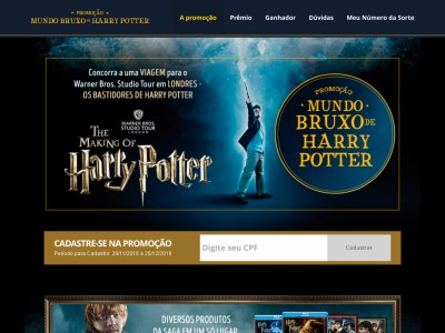 Promoção Mundo Bruxo Harry Potter