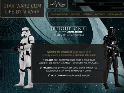 Promoção Star Wars Com Life By Vivara