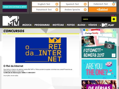 Promoção Mtv E Tilibra O Rei Da Internet
