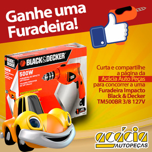 Concorra A Uma Furadeira Black & Decker!