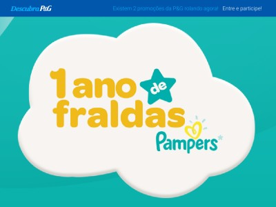 Promoção Pampers 2017: Ganhe 1 Ano De Fraldas Grátis