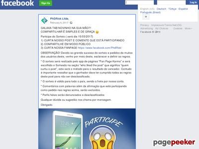 Sorteio De Um Tablet Galaxy Tab!