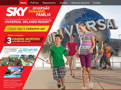 Promoção Sky Diversão Tamanho Família