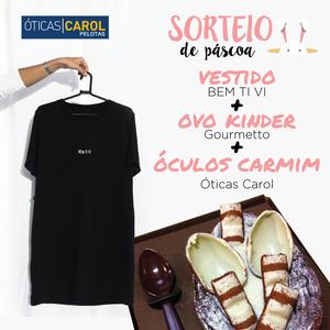Ganhe Kit Páscoa: Ovo + Vestido + Óculos Carmim