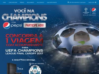 Promoção Você Na Champions Com A Pepsi