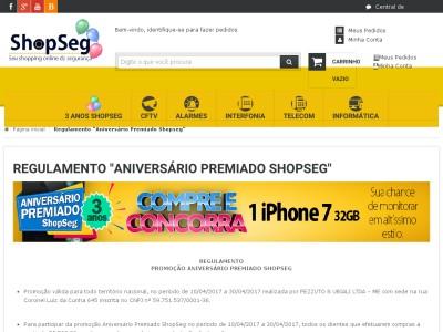 Promoção Aniversário Premiado Shopseg