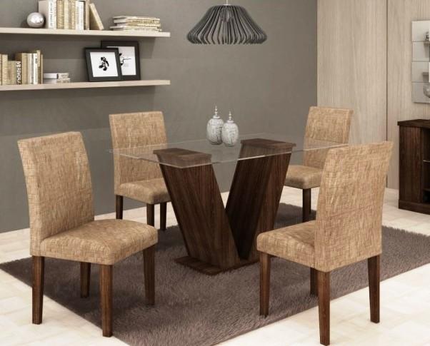 Ganhe Mesa Com 6 Cadeiras Para Sala De Jantar
