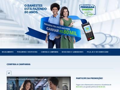 Promoção Compra Premiada 80 Anos Banestes
