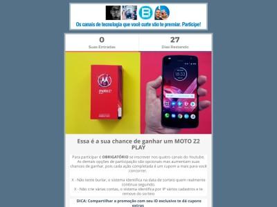 Promoção Ganhe Um Moto Z2 Play