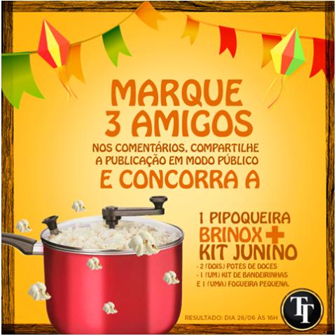 Sorteio: Concorra A Uma Pipoqueira + Kit Junino – Participe!