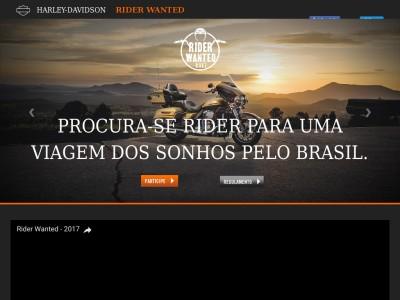 Promoção Harley-davidson Rider Wanted