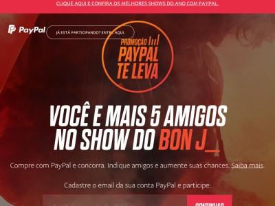 Promoção Paypal Te Leva