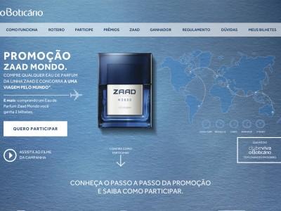 Promoção O Boticário Zaad Mondo