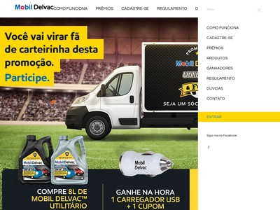 Promoção Mobil Delvac Utilitário Futebol Clube
