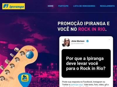 Promoção Ipiranga E Você No Rock In Rio