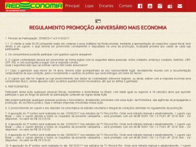 Promoção Aniversário Mais Economia