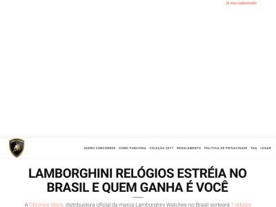 Promoção Lamborghini Relógios Estréia No Brasil E Quem Ganha É Você