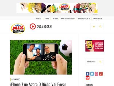 Promoção Mix Fm Iphone 7 No Agora O Bicho Vai Pegar