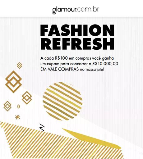 Promoção Glamour Fashion Refresh