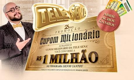 Promoção Tele Sena Cupom Milionário