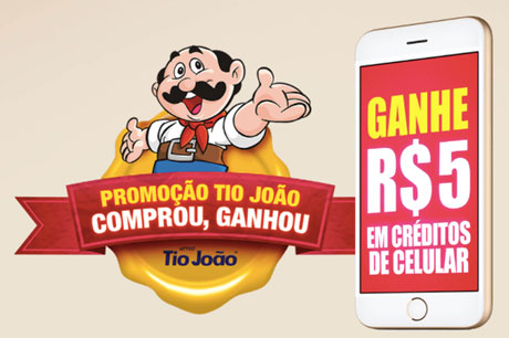 Promoção Tio João Comprou Ganhou