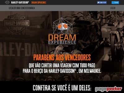 Promoção Harley-davidson Dream Experience